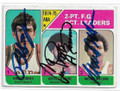 BOBBY JONES, ARTIS GILMORE & MOSES MALONE DENVER NUGGETS ROOKIE, KENTUCKY COLONELS AND UTAH STARS ROOKIE TRIPLE AUTOGRAPHED VINTAGE BASKETBALL CARD #112119F