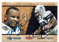 FRED TAYLOR AND EMMITT SMITH JACKSONVILLE JAGUARS AND DALLAS COWBOYS DOUBLE AUTOGRAPHED & NUMBERED FOOTBALL CARD #112119G