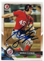 ANDREW STEVENSON WASHINGTON NATIONALS AUTOGRAPHED ROOKIE BASEBALL CARD #112319A