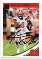 JARVIS LANDRY CLEVELAND BROWNS AUTOGRAPHED FOOTBALL CARD #112319C