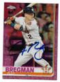 ALEX BREGMAN HOUSTON ASTROS AUTOGRAPHED BASEBALL CARD #112319D