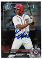 YASEL ANTUNA WASHINGTON NATIONALS AUTOGRAPHED ROOKIE BASEBALL CARD #112319F