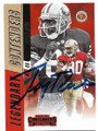 JERRY RICE SAN FRANCISCO 49ers AUTOGRAPHED FOOTBALL CARD #112419A