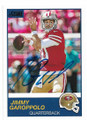 JIMMY GAROPPOLO SAN FRANCISCO 49ers AUTOGRAPHED FOOTBALL CARD #112519F