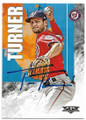 TREA TURNER WASHINGTON NATIONALS AUTOGRAPHED BASEBALL CARD #112619A