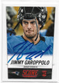 JIMMY GAROPPOLO NEW ENGLAND PATRIOTS AUTOGRAPHED ROOKIE FOOTBALL CARD #120119A