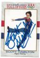 SCOTT HAMILTON OLYMPIC FIGURE SKATING AUTOGRAPHED VINTAGE OLYMPICS CARD #120219D