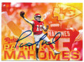 PATRICK MAHOMES KANSAS CITY CHIEFS AUTOGRAPHED ROOKIE FOOTBALL CARD #120519B