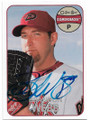 BRANDON WEBB ARIZONA DIAMONDBACKS AUTOGRAPHED BASEBALL CARD #120519C