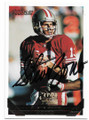 STEVE YOUNG SAN FRANCISCO 49ers AUTOGRAPHED FOOTBALL CARD #120619D