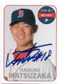 DAISUKE MATSUZAKA BOSTON RED SOX AUTOGRAPHED BASEBALL CARD #120819B