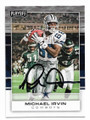 MICHAEL IRVIN DALLAS COWBOYS AUTOGRAPHED FOOTBALL CARD #120819D