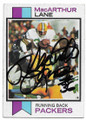 MacARTHUR LANE GREEN BAY PACKERS AUTOGRAPHED VINTAGE FOOTBALL CARD #121019A
