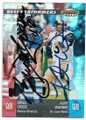 BRIAN GRIESE & KURT WARNER DENVER BRONCOS AND ST LOUIS RAMS DOUBLE AUTOGRAPHED FOOTBALL CARD #121119A