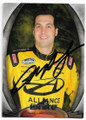 SAM HORNISH JR AUTOGRAPHED NASCAR CARD #121119B