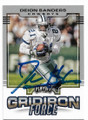 DEION SANDERS DALLAS COWBOYS AUTOGRAPHED FOOTBALL CARD #121119D