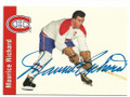 MAURICE RICHARD MONTREAL CANADIENS AUTOGRAPHED HOCKEY CARD #121319B