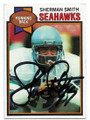SHERMAN SMITH SEATTLE SEAHAWKS AUTOGRAPHED VINTAGE FOOTBALL CARD #121519D