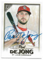 PAUL DeJONG ST LOUIS CARDINALS AUTOGRAPHED BASEBALL CARD #121919B