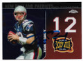 TOM BRADY NEW ENGLAND PATRIOTS AUTOGRAPHED FOOTBALL CARD #10720B