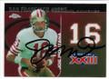 JOE MONTANA SAN FRANCISCO 49ers AUTOGRAPHED FOOTBALL CARD #11520B