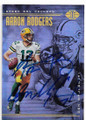 AARON RODGERS & DON MAJKOWSKI GREEN BAY PACKERS QUARTERBACKS DOUBLE AUTOGRAPHED FOOTBALL CARD #11820B