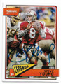 STEVE YOUNG SAN FRANCISCO 49ers AUTOGRAPHED FOOTBALL CARD #11820D