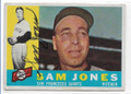 SAM JONES SAN FRANCISCO GIANTS  AUTOGRAPHED VINTAGE BASEBALL CARD #11920A