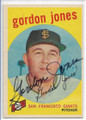 GORDON JONES SAN FRANCISCO GIANTS AUTOGRAPHED VINTAGE BASEBALL CARD #12220A