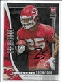 DARWIN THOMPSON KANSAS CITY CHIEFS AUTOGRAPHED ROOKIE FOOTBALL CARD #12620A