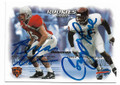 BRIAN URLACHER & COREY MOORE CHICAGO BEARS AND BUFFALO BILLS DOUBLE AUTOGRAPHED ROOKIE FOOTBALL CARD #12620C