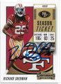RICHARD SHERMAN SAN FRANCISCO 49ers AUTOGRAPHED FOOTBALL CARD #12620D