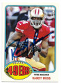 RANDY MOSS SAN FRANCISCO 49ers AUTOGRAPHED FOOTBALL CARD #12720A