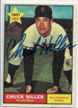 CHUCK HILLER SAN FRANCISCO GIANTS AUTOGRAPHED VINTAGE ROOKIE BASEBALL CARD #12720C