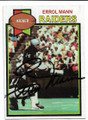 ERROL MANN OAKLAND RAIDERS AUTOGRAPHED VINTAGE FOOTBALL CARD #13020A