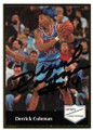 DERRICK COLEMAN NEW JERSEY NETS AUTOGRAPHED VINTAGE BASKETBALL CARD #13020B