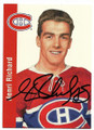 HENRI RICHARD MONTREAL CANADIENS AUTOGRAPHED VINTAGE HOCKEY CARD #20320C