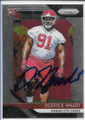DERRICK NNADI KANSAS CITY CHIEFS AUTOGRAPHED ROOKIE FOOTBALL CARD #20420D