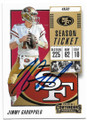 JIMMY GAROPPOLO SAN FRANCISCO 49ers AUTOGRAPHED FOOTBALL CARD #20820A