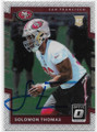 SOLOMON THOMAS SAN FRANCISCO 49ers AUTOGRAPHED ROOKIE FOOTBALL CARD #20820C