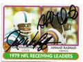 JOE WASHINGTON & AHMAD RASHAD BALTIMORE COLTS & MINNESOTA VIKINGS DOUBLE AUTOGRAPHED VINTAGE FOOTBALL CARD #22520A