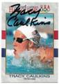 TRACY CAULKINS AUTOGRAPHED OLYMPIC SWIMMING CARD #22620B