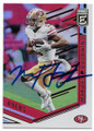 MARQUISE GOODWIN SAN FRANCISCO 49ers AUTOGRAPHED FOOTBALL CARD #22720C