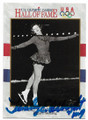 TENLEY ALBRIGHT U.S. WOMEN'S FIGURE SKATING MEDALIST AUTOGRAPHED OLYMPICS CARD #22720D