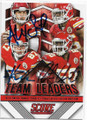 ALEX SMITH, TRAVIS KELCE & JUSTIN HOUSTON KANSAS CITY CHIEFS TRIPLE AUTOGRAPHED FOOTBALL CARD #22720E