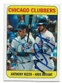 ANTHONY RIZZO & KRIS BRYANT CHICAGO CUBS DOUBLE AUTOGRAPHED BASEBALL CARD #22920D