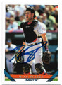 MIKE PIAZZA NEW YORK METS AUTOGRAPHED BASEBALL CARD #30120F