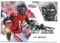 DK METCALF OLE MISS REBELS AUTOGRAPHED ROOKIE FOOTBALL CARD #30420A