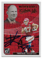 TRAVIS KELCE KANSAS CITY CHIEFS AUTOGRAPHED FOOTBALL CARD #30420D