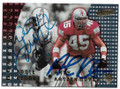 EDDIE GEORGE & ANDY KATZENMOYER HOUSTON/TENNESSEE OILERS & NEW ENGLAND PATRIOTS ROOKIE DOUBLE AUTOGRAPHED FOOTBALL CARD #30620A